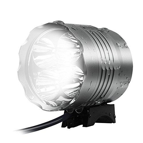 HLLP LED Bike Light Set, Powerful Lumens Rainproof Bicycle Headlight for...