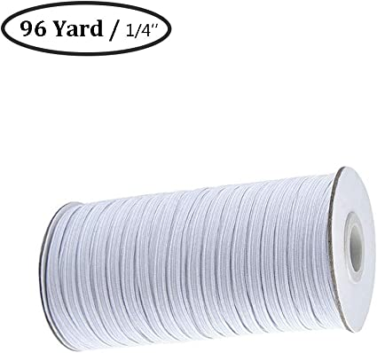 Amazon Com White 96 Yards Length 1 4 Inch Width Braided Elastic