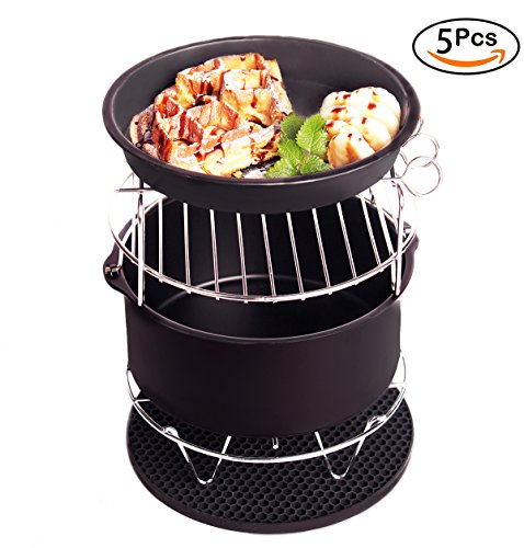 Air Fryer Accessories for Gowise Phillips And Cozyna Fit All 3.7QT - 5.3QT - 5.8QT Set Of 5 For Cake Pizza Barbecue