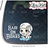 """Game of Thrones Inspired Baby Daenerys """"BABY ON BOARD"""" Sign Vinyl Decal Sticker for Cars / Trucks"""