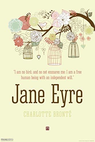 Pyramid America Jane Eyre Charlotte Bronte I Am No Bird Art Print Poster 12x18 inch