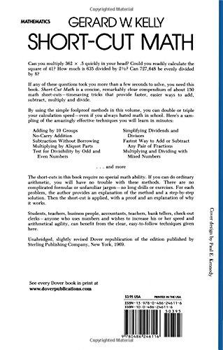 Short-Cut Math: Gerard W. Kelly: 9780486246116: Amazon.com: Books