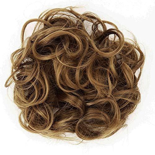 PRETTYSHOP Hairpiece Hair Rubber Scrunchie Scrunchy Updos VOLUMINOUS Curly Messy Bun Light brown mix G16E_30T26