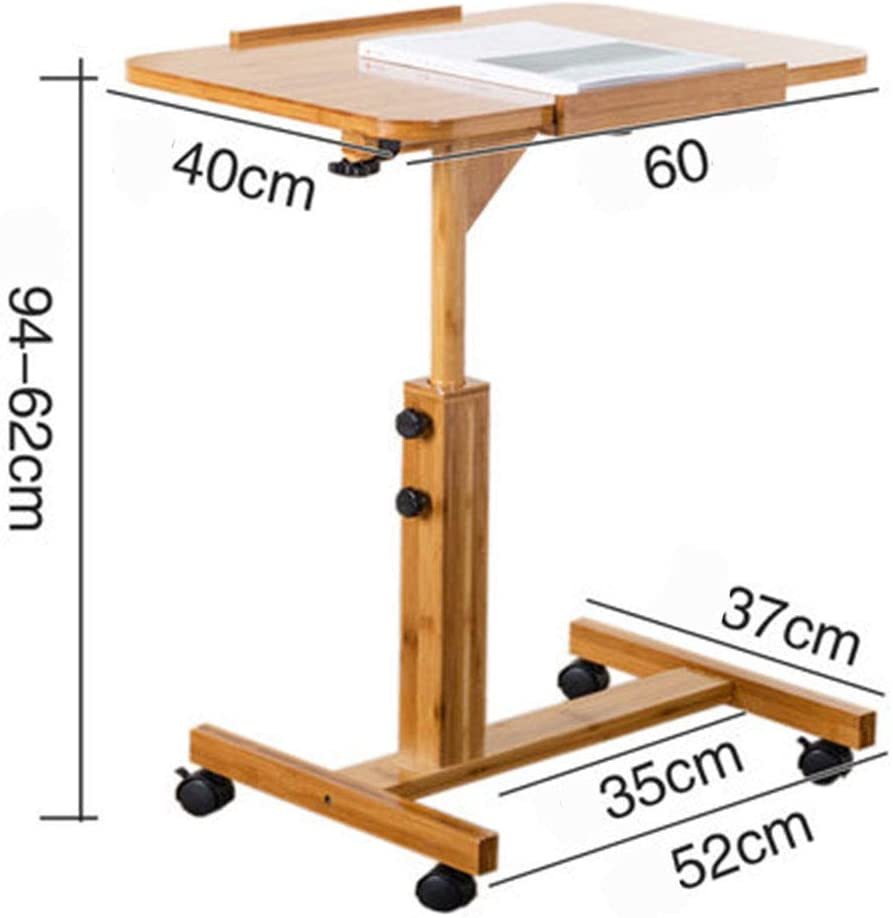 Overbed Table-Table de Chevet Table d'ordinateur Portable Bureau lit Simple Bureau Simple Petite Table Pliante