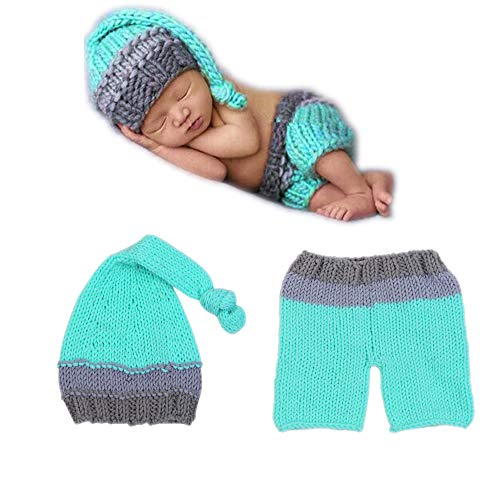 Newborn Baby Photography Prop, Infant Boy Girl Crochet Costume 0-6 months Photo Outfit, Toddler Knitted Photoshoot Sets