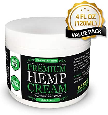 Hemptopia Premium Organic Hemp Extract Cream for Pain Relief - 10,000mg of Hemp Extract - All Natural - Arthritist Relief, Knee Pain, Muscle Pain, Back Pain, Joint Pain, and MORE...