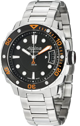 Alpina Extreme Diver 300 Black Dial Steel Bracelet Ladies Watch AL240LBO3V6B