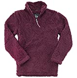 boxercraft Adult Super Soft 1/4 Zip Sherpa Pullover-Maroon-XL