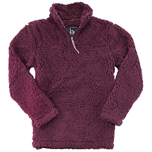 boxercraft Adult Super Soft 1/4 Zip Sherpa Pullover-Maroon-XL by boxercraft