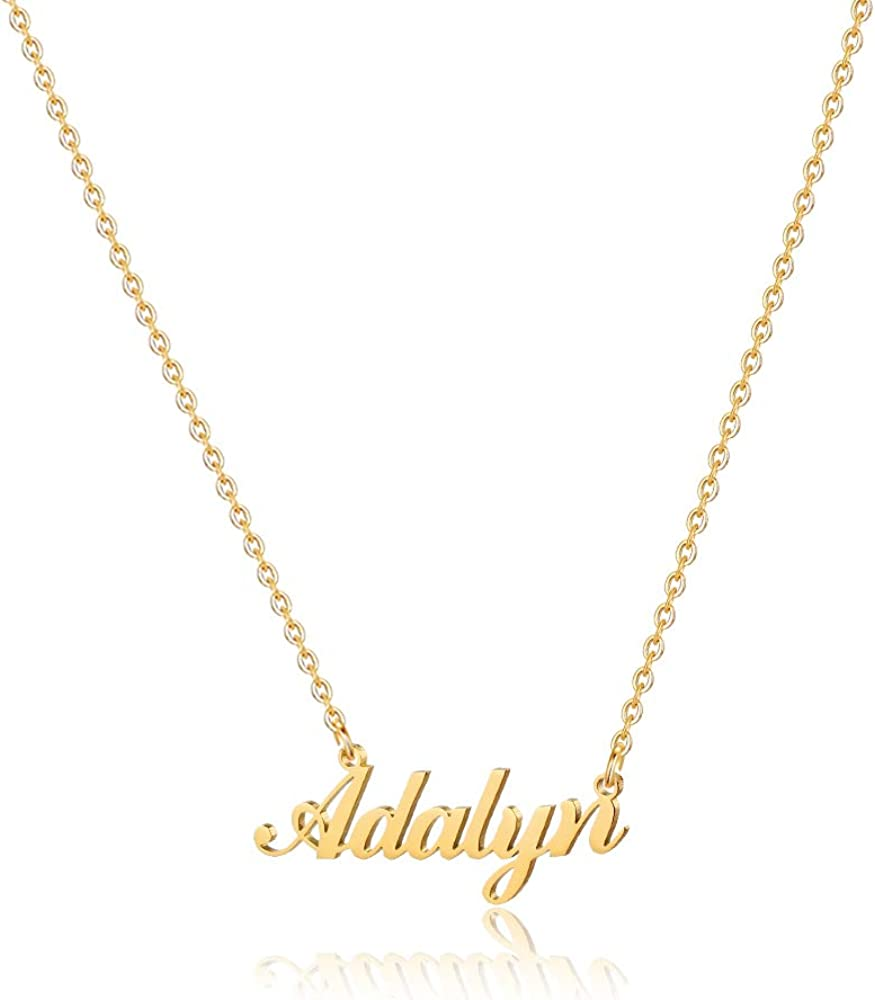 gold name necklace, 18k gold name necklace custom name necklace Name necklace my name necklace custom pendants