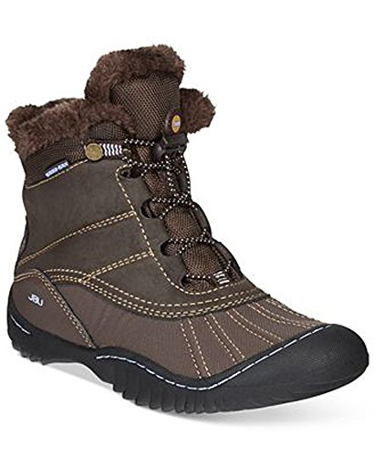 Weather Cold Boots Toe Brown Round Ankle Womens Pullman JBU ZwqYzz