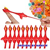 Namii W Slingshot Chicken Flick Chicken Fingers Stretchy Flying Chicken (10 Pack) Tricky Game Player's Favorite Scented Stress Relief Toy with a Tube of Water Beads (Red)