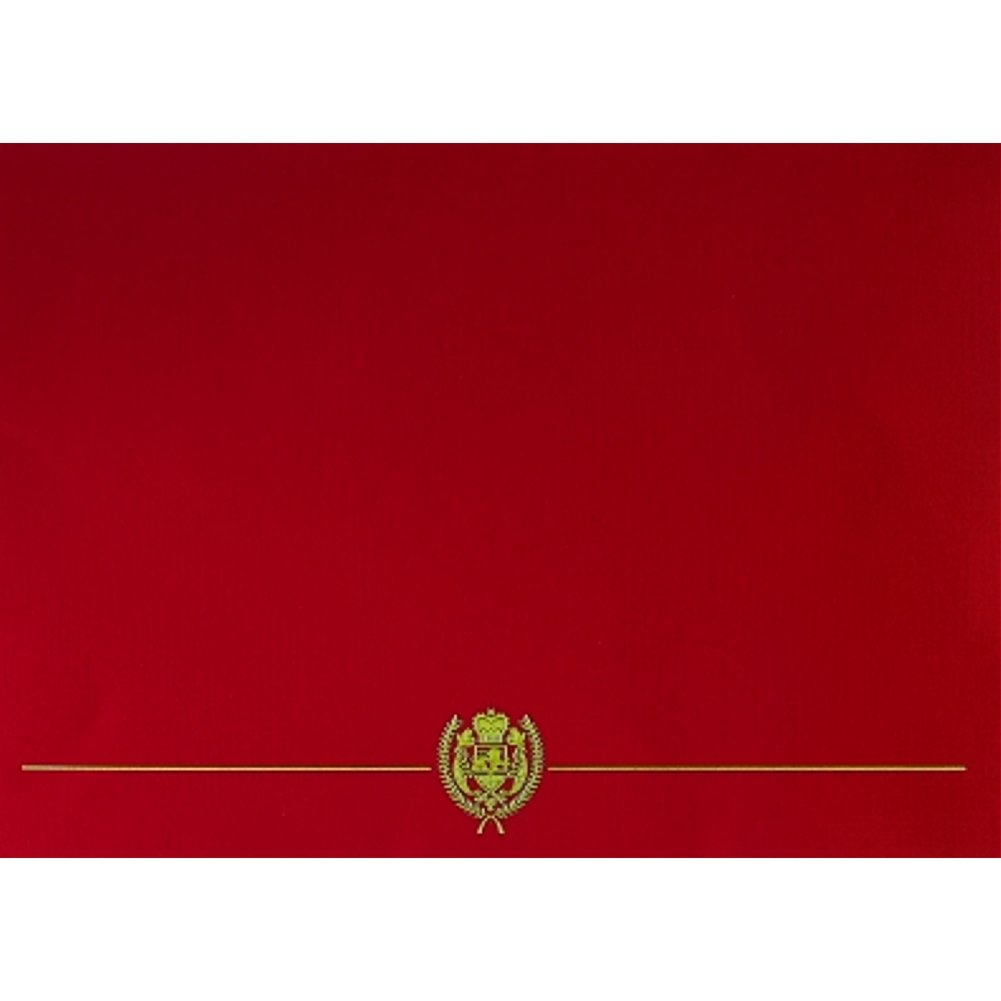 Classic Crest Red Certificate Covers - Pack of 5