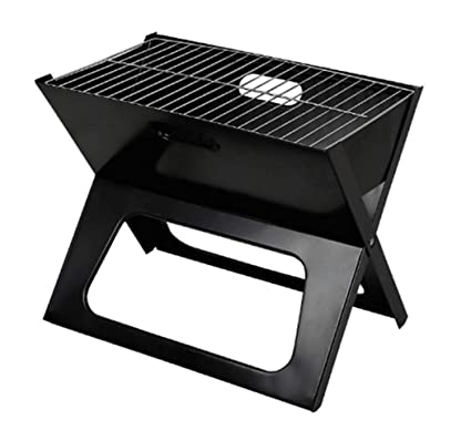 Amazon.com: Barbecue Grill,X-shaped Bracket Household Mini ...