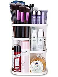 Herwiss 360 Rotating Makeup Organizer For Cosmetic, Brushes, Lipstick,  Essential Oils Organization