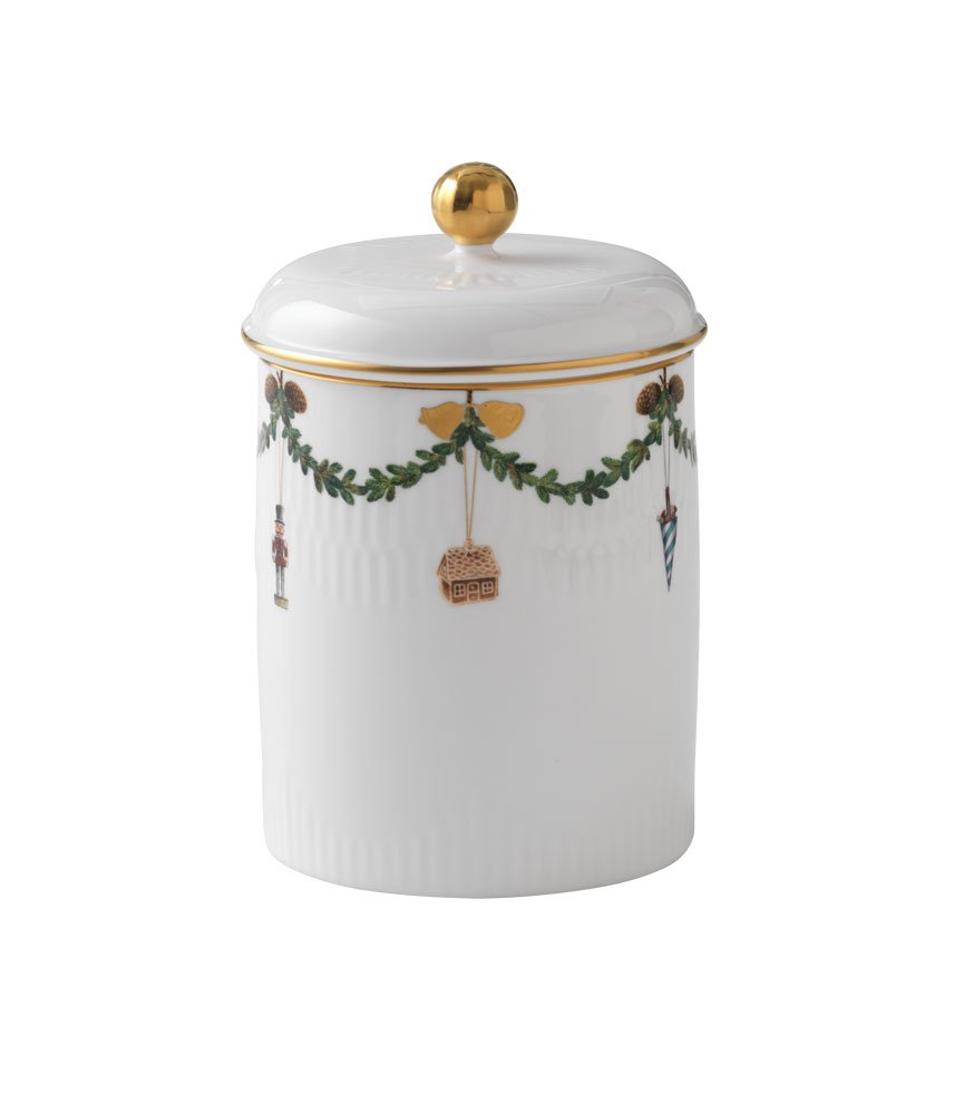 Royal Copenhagen Star Fluted Christmas 1016966 Jar with Lid by Royal Copenhagen