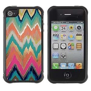 "Hypernova Defender Series TPU protection Cas Case Coque pour Apple iPhone 4 / iPhone 4S [Paint modelo del oro Rosa de la acuarela""]"