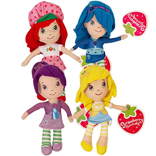 Strawberry Shortcake Plush and Friends Blueberry Muffin, Plum Pudding, Lemon Meringue 8.5 Inches ()