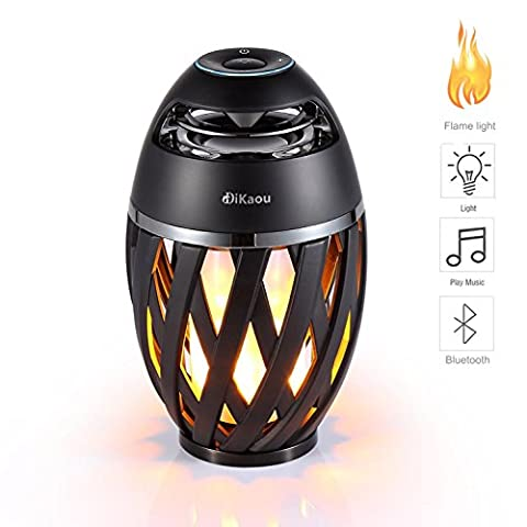 DIKAOU Led flame speaker, Torch atmosphere Bluetooth speakers&Outdoor Portable Stereo Speaker with HD Audio and Enhanced Bass,LED flickers warm yellow lights BT4.2 for iPhone/iPad /Android (Y Flicker A1)