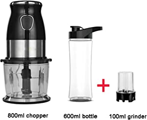 TJQTJQ Home Blender, BPA Free Multifunctional High Speed Smoothie Maker and Ice Crusher with 600ML Portable Mini Blender and Food Processor for Juicer Fruit Vegetable 500W,B