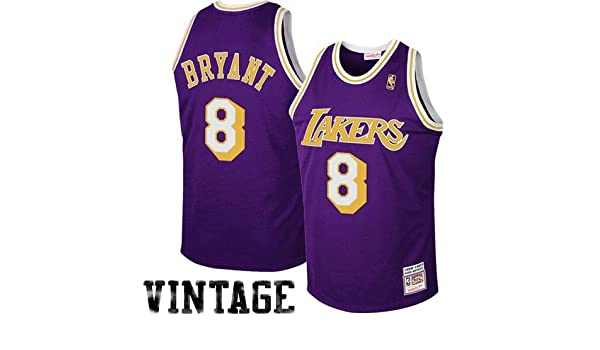 3cfe383ad11 Amazon.com   NBA Mitchell   Ness Los Angeles Lakers  8 Kobe Bryant Purple  1997 Authentic Hardwood Classics Jersey (40)   Sports   Outdoors