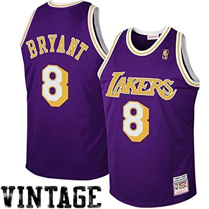 b4cc46ad1 NBA Mitchell   Ness Los Angeles Lakers  8 Kobe Bryant Purple 1997 Authentic  Hardwood Classics