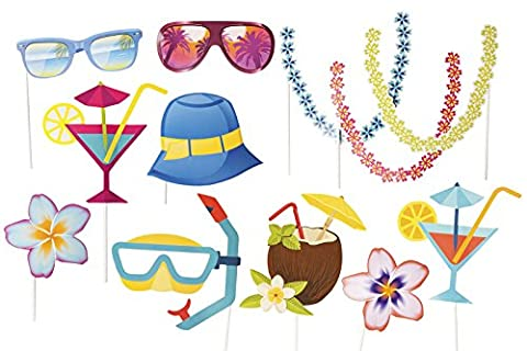Beach Party Photo Accessories Props on stick - Partito accessori