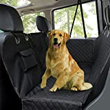 #2: Dog Car Seat Covers, Pet Seat Cover for Back Seat with Viewing Window / Side Flaps, Hammock Bench Convertible Backseat, Scratch-Proof Water Resistant Seat Protector for Cars Trucks & SUVs, Black