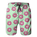 Men Doughnut Quick Dry Lightweight Fashion Board Shorts Swim Trunks XL