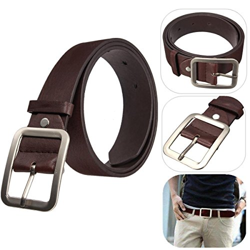 Men's WaistBand Leather Belt Classic Casual Dress Pin Belt Waist Strap Belts New, Stylish and practical, easy to match different outfits. (Allen Edmonds Classic Belt)