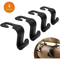 Crochets d'appui-tête de voiture, Mysbiker 4 Pack Support de siège d'appui-tête pour crochet de siège arrière Support d'appui-tête pour support de crochet