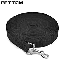 Pettom Nylon Dog Training Leashes Pet Supplies Walking Harness Collar Leader Rope For Dogs Cat (XL 50 FT)