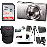 Canon PowerShot ELPH 360 HS Digital Camera (Silver) w/32GB SD Card Bundle