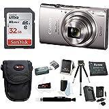 Canon PowerShot ELPH 360 HS Digital Camera (Silver) w/32GB SD Card Bundle