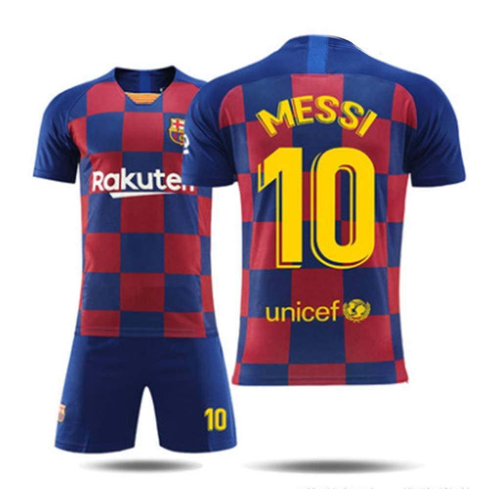 Adults And Children 2019 Sportswear Football T-shirts And Shorts Football Uniform Boy # 10 Football Uniform For Football Fans Barcelone Messi