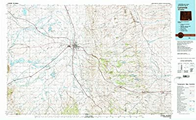 Laramie WY topo map, 1:100000 scale, 30 X 60 Minute, Historical, 1981, updated 1981, 24.1 x 39.6 IN