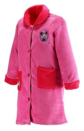 Girls Official Disney Minnie Mouse Button Through Dressing Gown Sizes From 3 To 8 Years