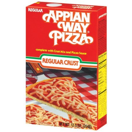Armour Appian Way Regular Pizza Crust Mix and Pizza Sauce, 12.5 Ounce (6 Boxes)
