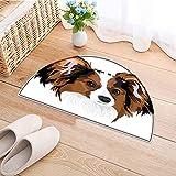 Print Area Rug Cute Smart Adorable Best Friend Dog Movie Pet Cartoon Artwork Image Cinnamon Black Perfect for Any Room, Floor Carpet W43 x H30 INCH
