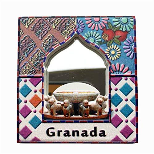 Fridge Magnet Alhambra Granada Spain 3D Resin Mirror Handmade Craft Tourist Travel City Souvenir Collection Letter Refrigerator -