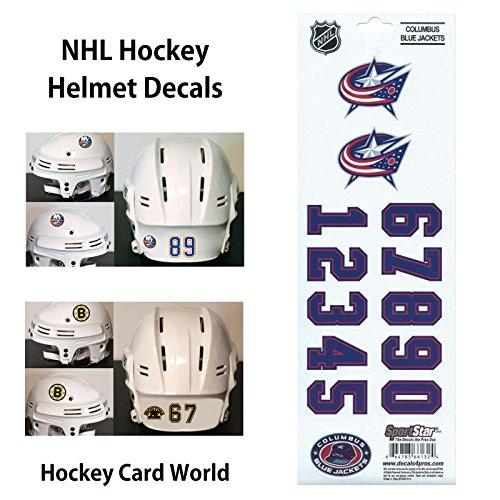 ((HCW) Columbus Blue Jackets SportsStar NHL Hockey Helmet Decals Sticker)