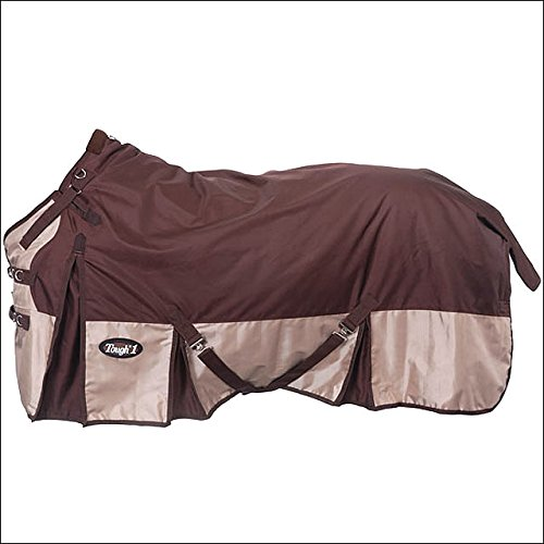 BROWN TOUGH-1 EXTREME 1680D WATERPROOF POLY TACK HORSE TURNOUT BLANKET 250 GSM CROSS SURCINGLE by Tough 1