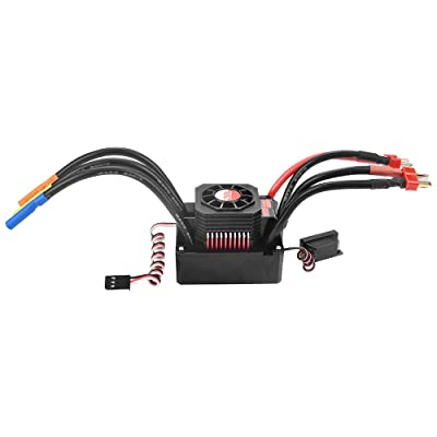 GoolRC 150A Brushless ESC Waterproof Electric Speed Controller for 1/8 RC Truck Off-Road Car: Toys & Games