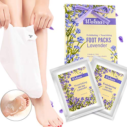 2 PCS Lavender Foot Peeling Mask Exfoliant For Peeling OFF Calluses &Dead Skin Remove Cracked Heels Guaranteed Baby Feet in 7-14 Days