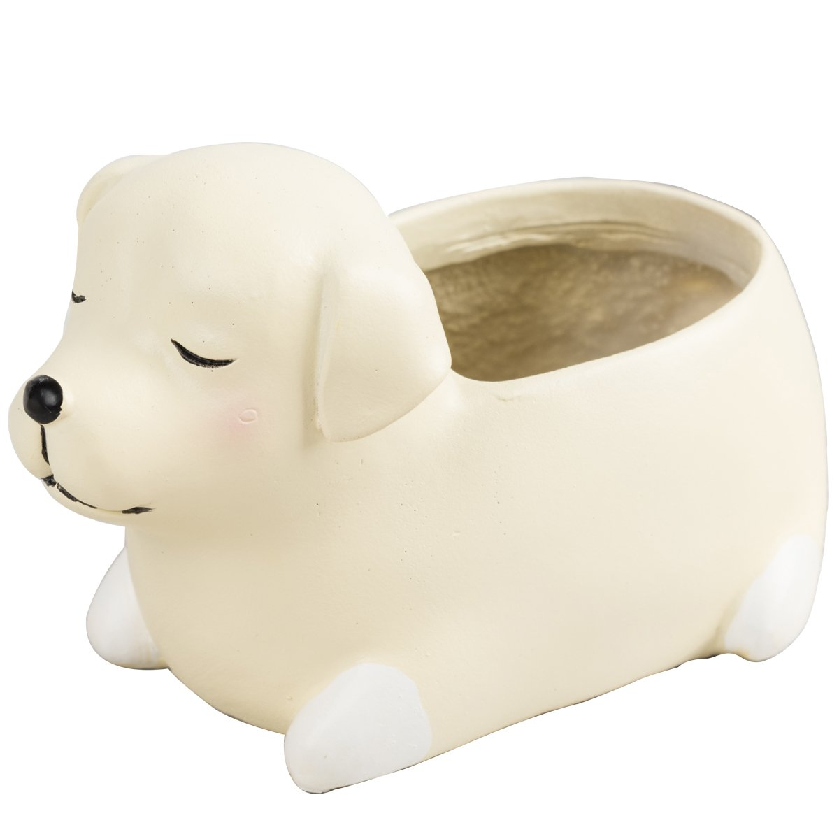 Mini Labrador Succulent Planter Cacti Pots Tiny Flower Containers Decorative with Cute Colorful Animal Shape (Puppy)