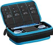 Casemaster Plazma Plus, 3 Dart Case for Soft and Steel Tip Darts Features Large Front Mobile Device Pocket, Bu