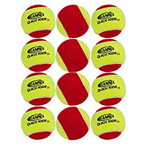 Gamma Sports Kids Training (Transition) Balls, Yellow/Red, Quick Kids 36, 12-Pack
