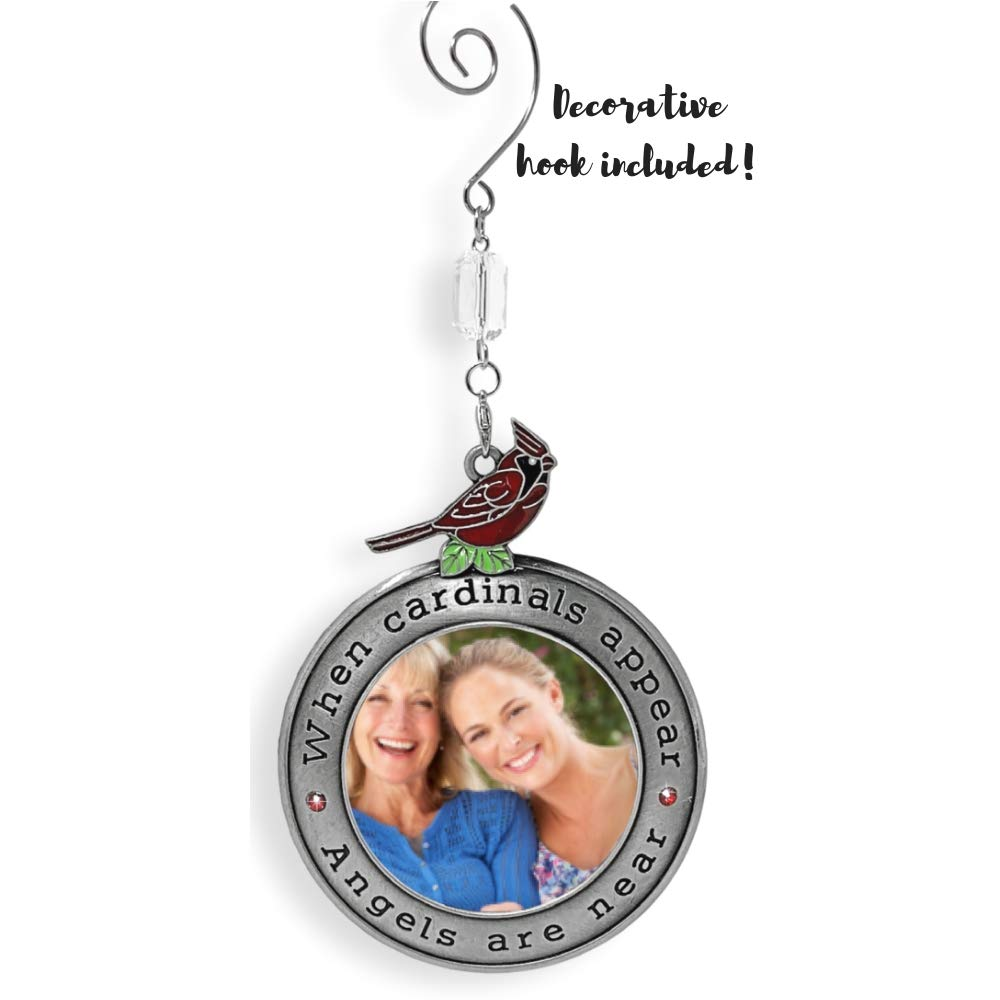 BANBERRY DESIGNS Cardinal Christmas Ornament When Cardinals Appear Angels are Near in Loving Memory Holiday Keepsake 2858