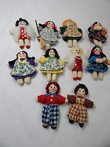 "World of Miniature Bears 3"" Cotton Rag Doll #5900SET B from World of Miniature Bears"