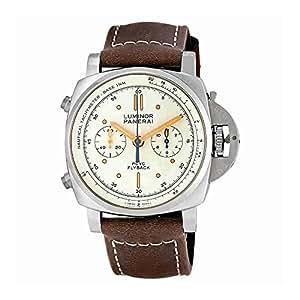 Panerai Luminor 1950 Ivory Automatic Mens Chronograph Watch PAM00654